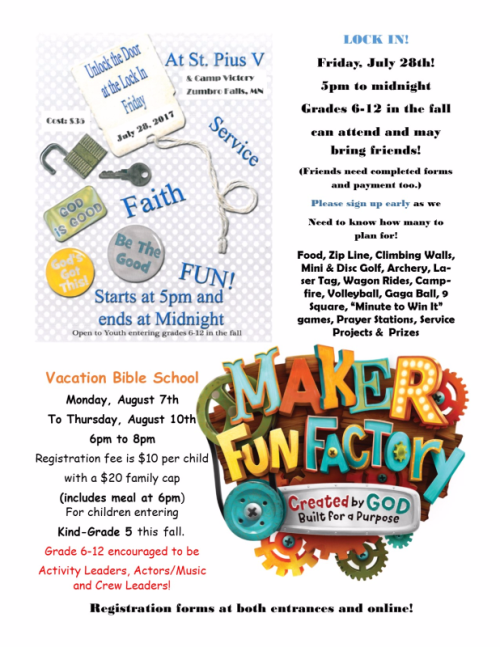 Lock in vbs flyer