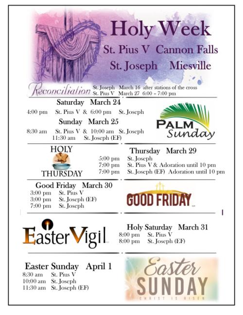 18 Holy Week insert